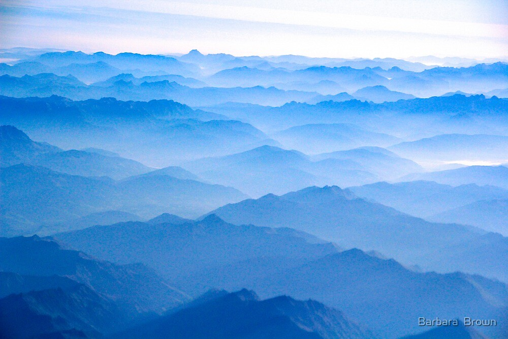 Over the Alps by Barbara  Brown