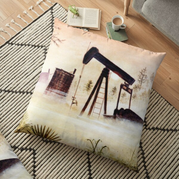 Big Thicket Oil Field Floor Pillow