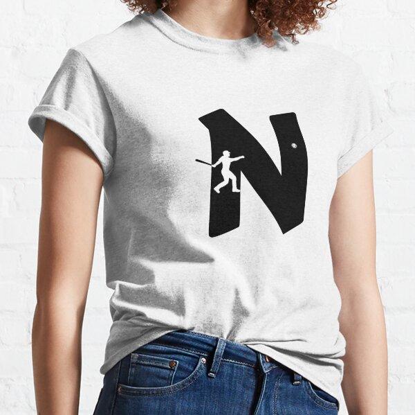 Personalized Baseball Initial N Classic T-Shirt