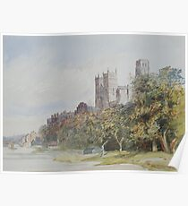 Watercolour of Durham Cathedral, 19th century Poster