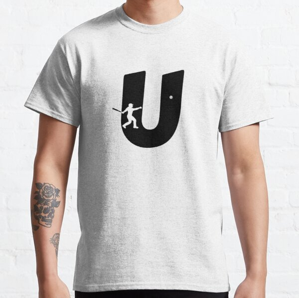 Personalized Baseball Initial U Classic T-Shirt