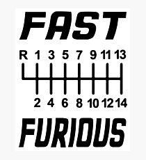 Fast & Furious Photographic Print