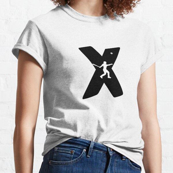 Personalized Baseball Initial X Classic T-Shirt
