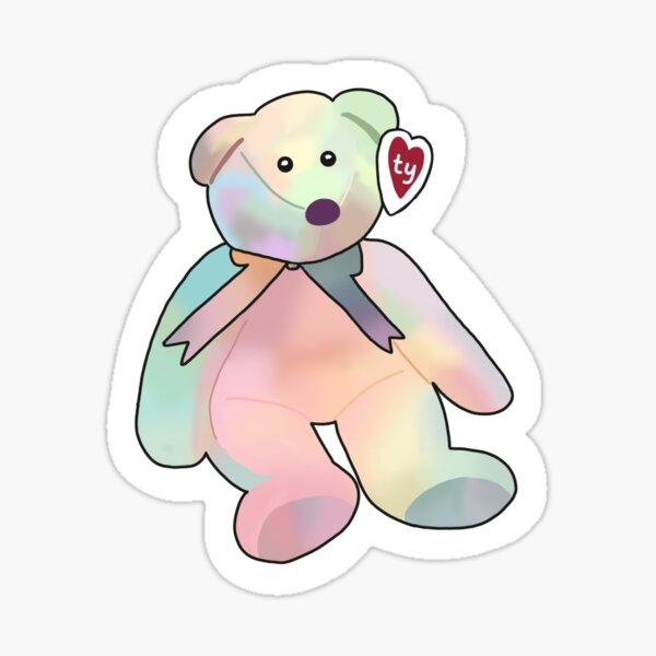 Tie dye beanie baby Sticker