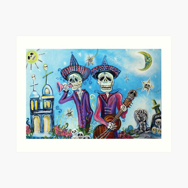 Secrets Of The Mariachi (All Saint's Day) Art Print