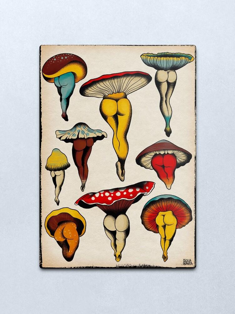 Alternate view of Sexy mushrooms tattoo flash Metal Print