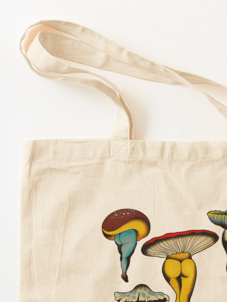 Alternate view of Sexy mushrooms tattoo flash Tote Bag