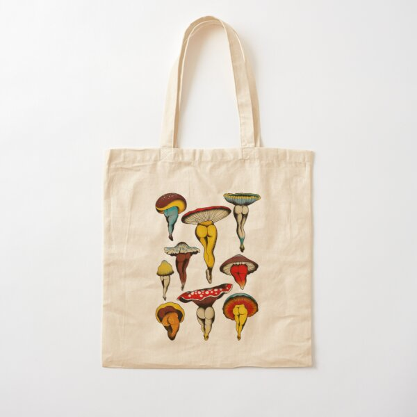 Sexy mushrooms tattoo flash Cotton Tote Bag