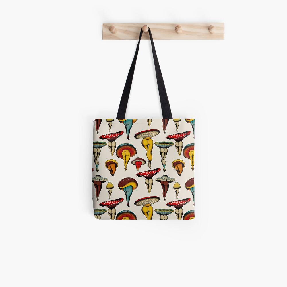 Sexy mushrooms tattoo flash Tote Bag