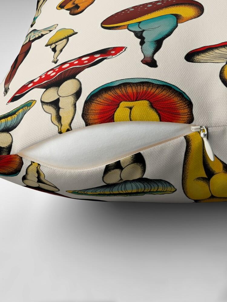 Alternate view of Sexy mushrooms tattoo flash Throw Pillow