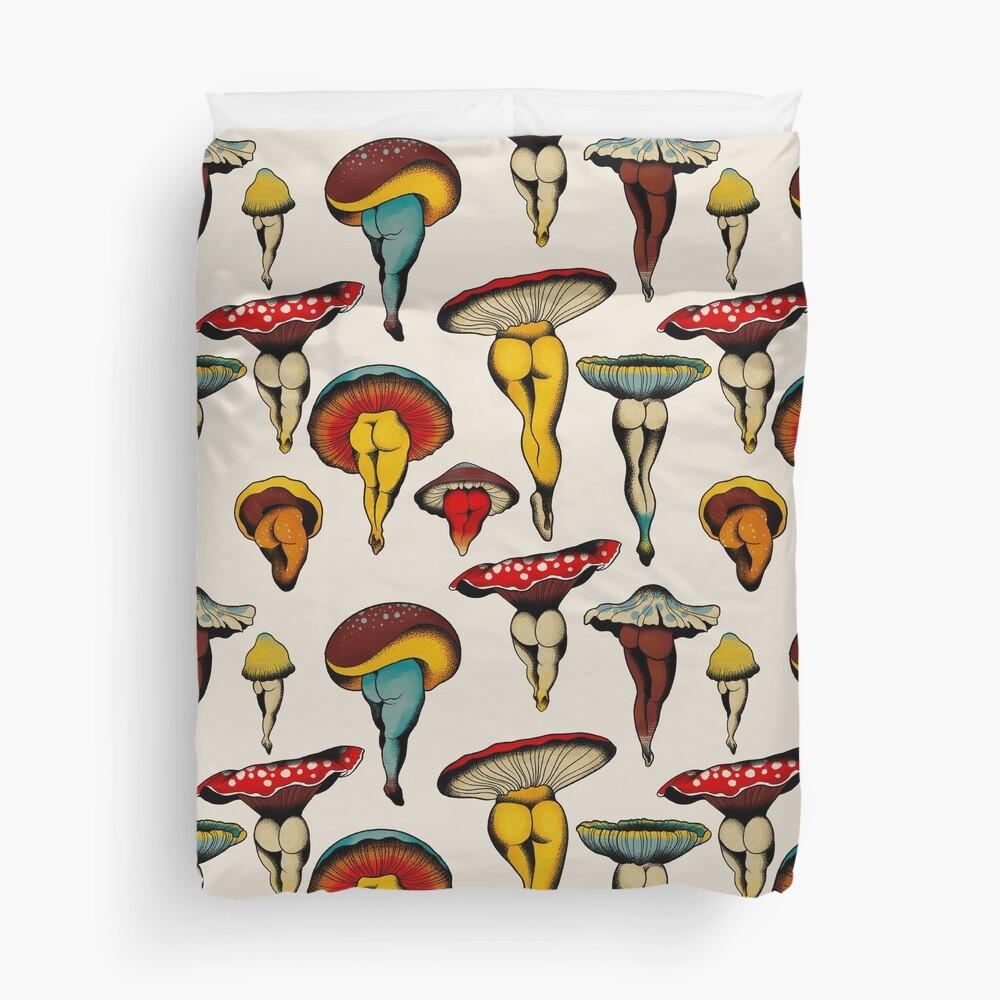 Sexy mushrooms tattoo flash Duvet Cover