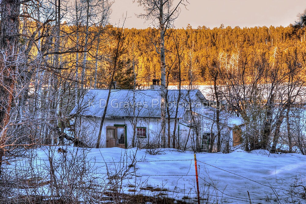 """The Old Winter Cottage By The Lake"" by K D Graves Photography"