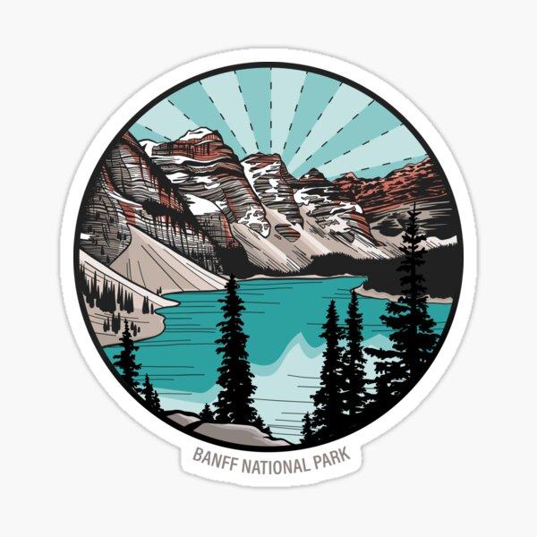 Moraine Lake, Banff National Park, Alberta, Canada Sticker