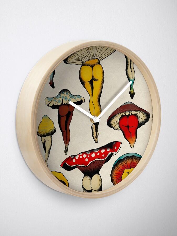Alternate view of Sexy mushrooms tattoo flash Clock