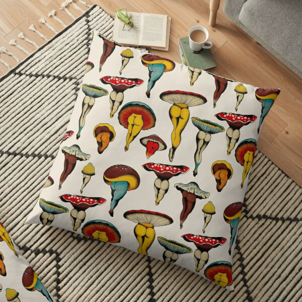 Sexy mushrooms tattoo flash Floor Pillow