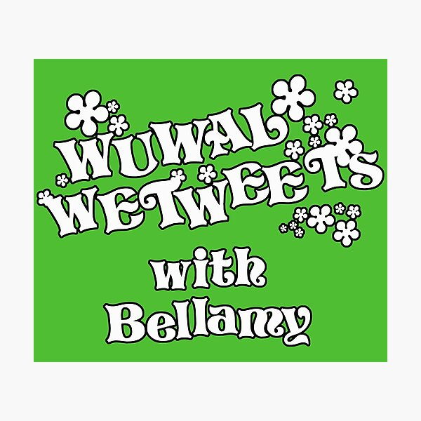 Tiswas - Wuwal Wetweets with Bellamy Photographic Print