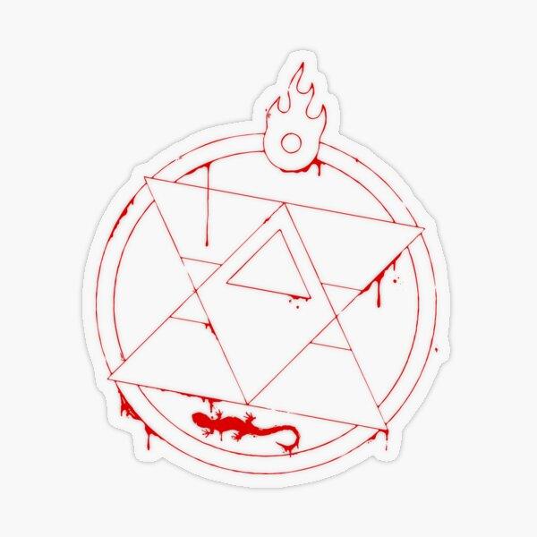 Roy Mustang - Blood Transmutation Circle - White Transparent Sticker