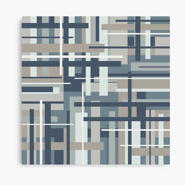 Frank - Mid Century Modern Geometric Pattern in Neutral Blue Grey Canvas Print