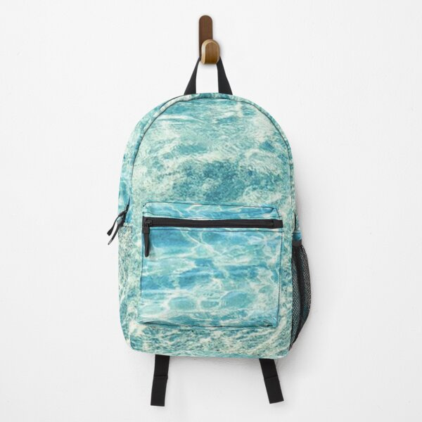 Crystal Clear Aqua Blue Ocean Water Backpack