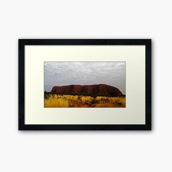 Sunrise at The Rock Framed Art Print
