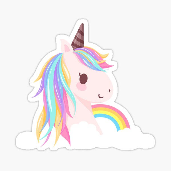 Cute baby unicorn Sticker
