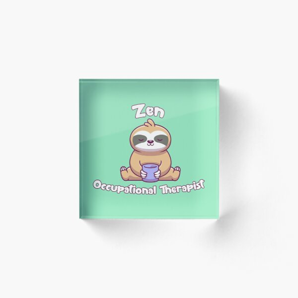 Zen Coffee OT Sloth Acrylic Block