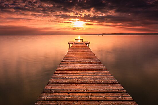 Sunset & Pier by Zoltán Duray