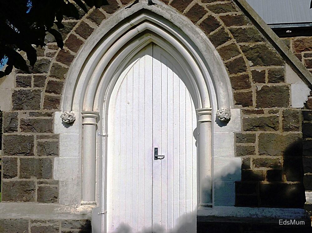 *Church door - Uniting Church - Koroit, Vic.* by EdsMum