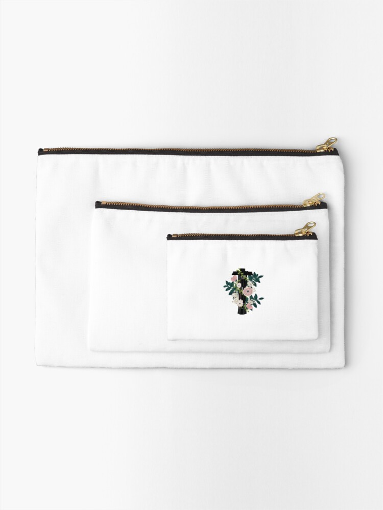 Alternate view of kylo saber with flowers Zipper Pouch