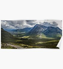 Mountains of Glencoe from the Devils Staircase, Scotland Poster