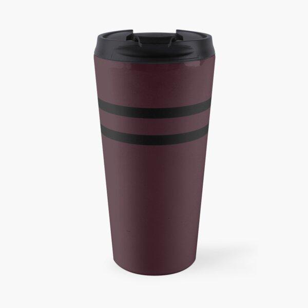 Simple Berry Color Line Design Travel Mug