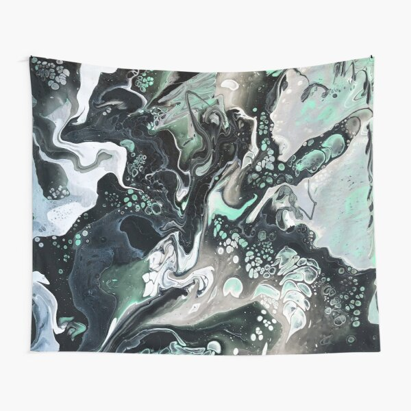 Hint of Mint (Marbled Abstract Pour) Tapestry