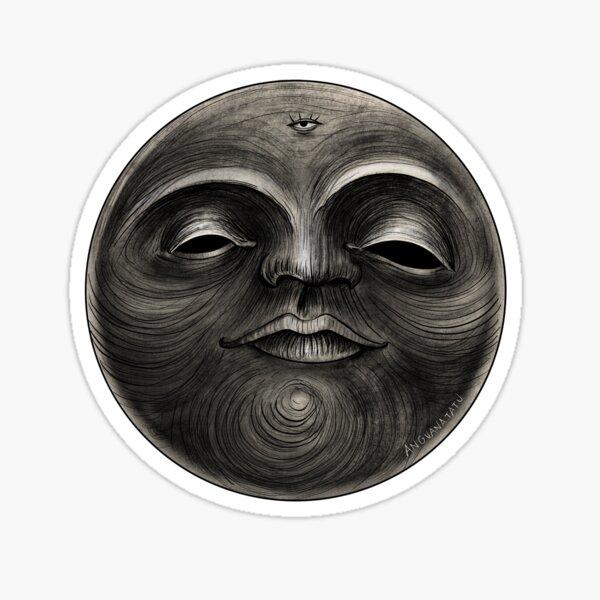 Voodoo moon Sticker