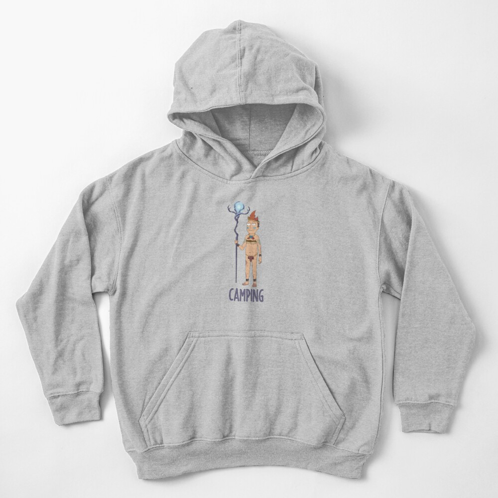 Rick and Morty - Camping Kids Pullover Hoodie