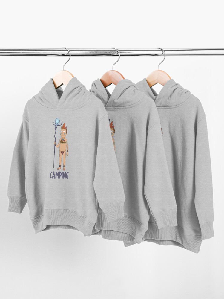 Alternate view of Rick and Morty - Camping Toddler Pullover Hoodie