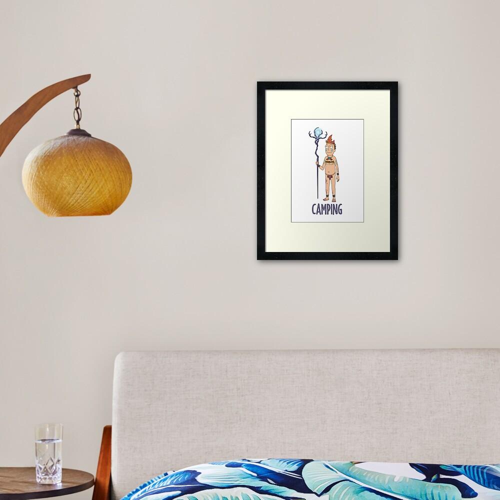 Rick and Morty - Camping Framed Art Print