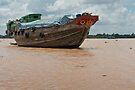 Mekong Boats 1 by Werner Padarin