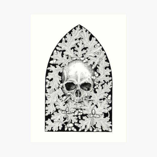 Skull and Oak by Gemma Gary Art Print