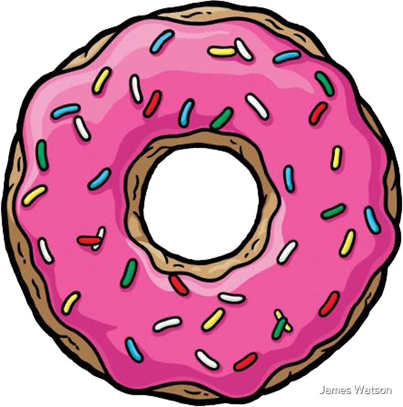 Pink Donut Simpsons