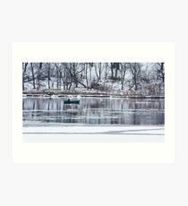 Winter fishing Art Print