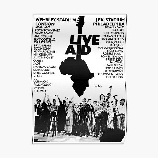 Live Aid Original Vintage Poster Poster