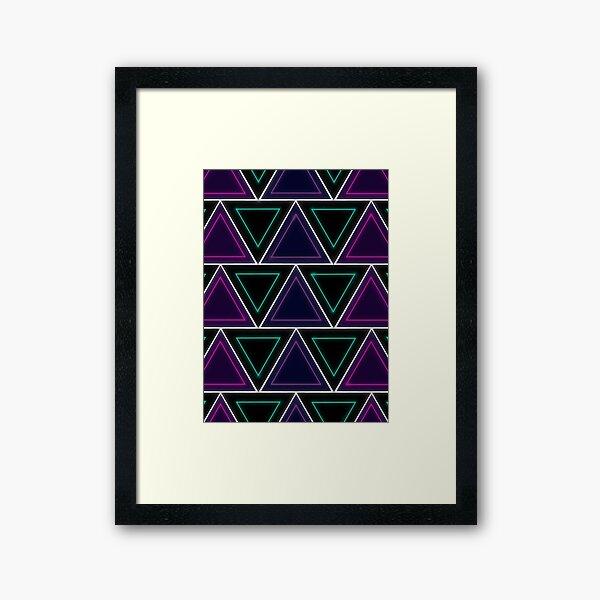 Neon Glow- Triangles Framed Art Print