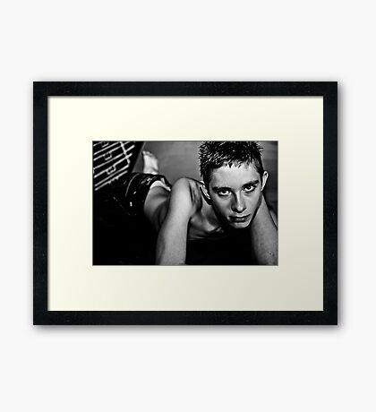 Brandon - England b&w Framed Print