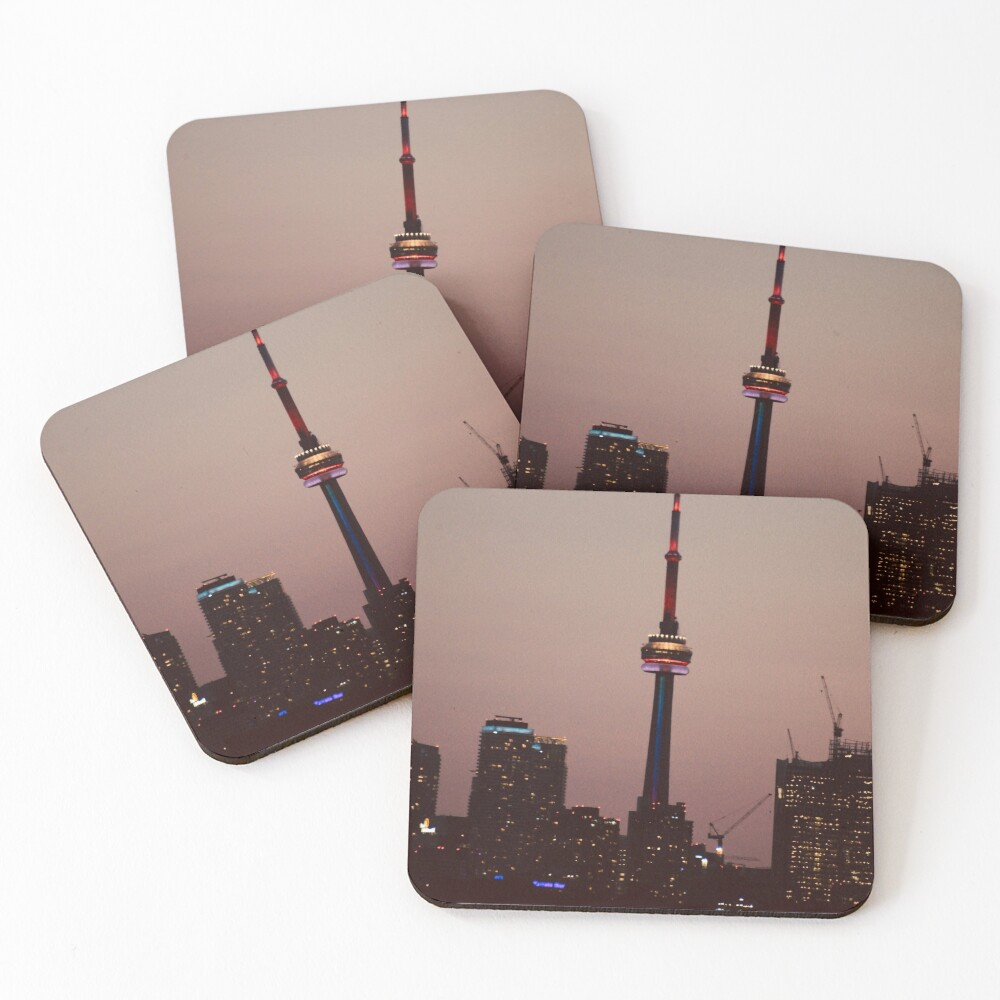 Toronto by Night By Yannis Lobaina  Coasters (Set of 4)