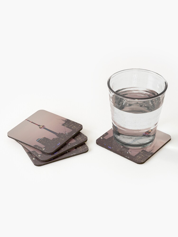 Alternate view of Toronto by Night By Yannis Lobaina  Coasters (Set of 4)