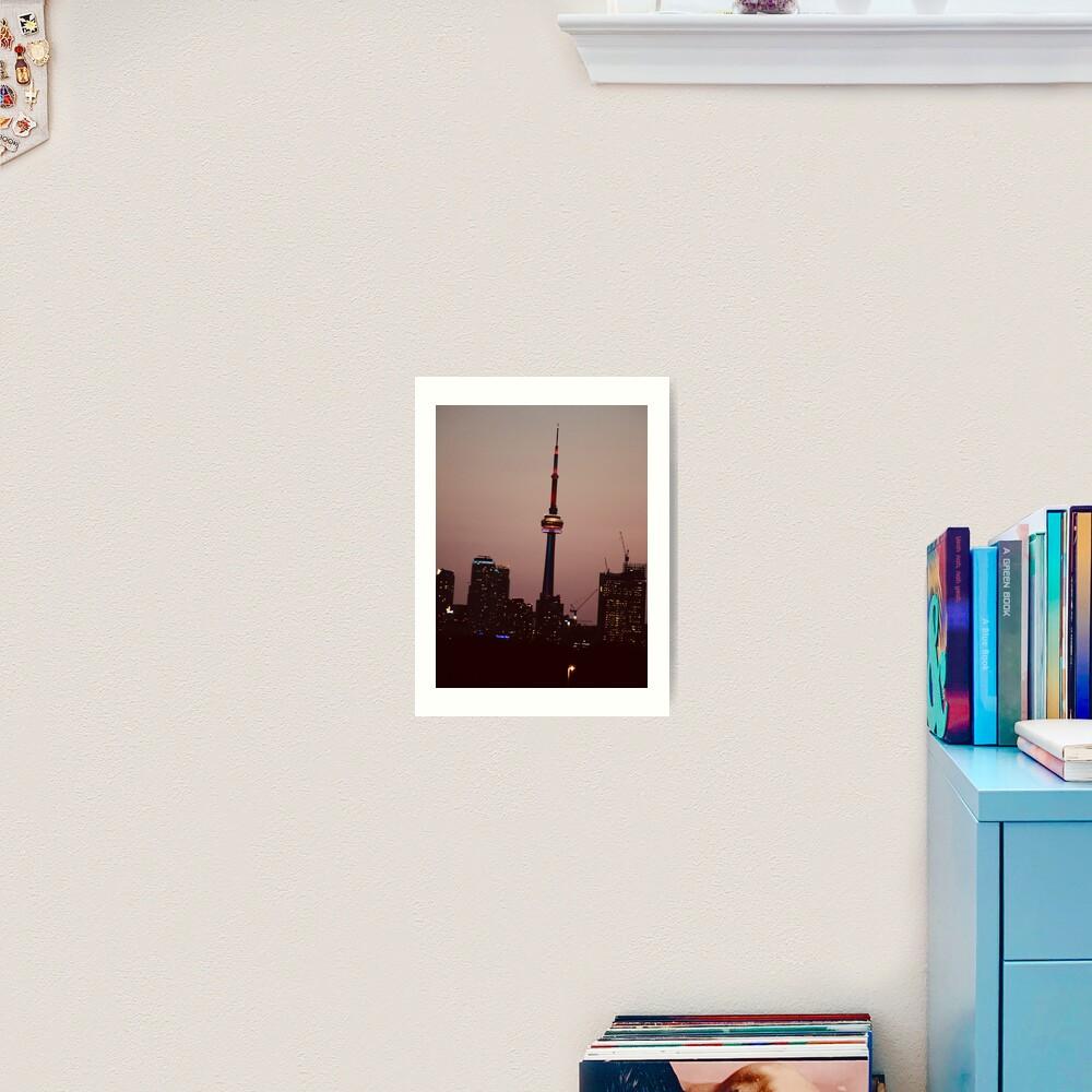 Toronto by Night By Yannis Lobaina  Art Print
