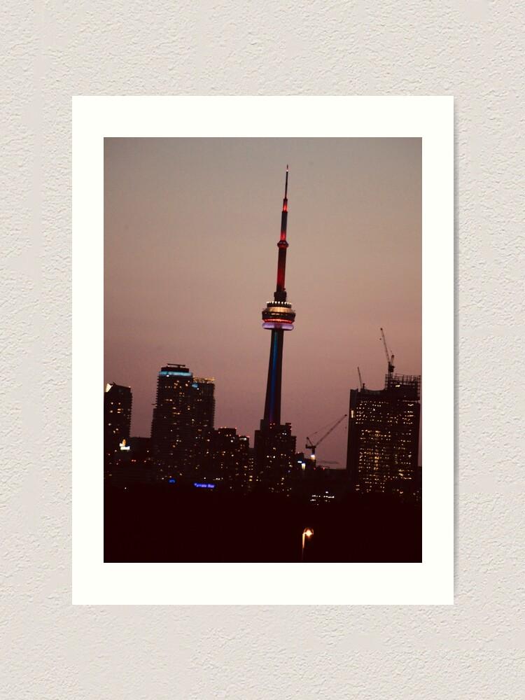 Alternate view of Toronto by Night By Yannis Lobaina  Art Print