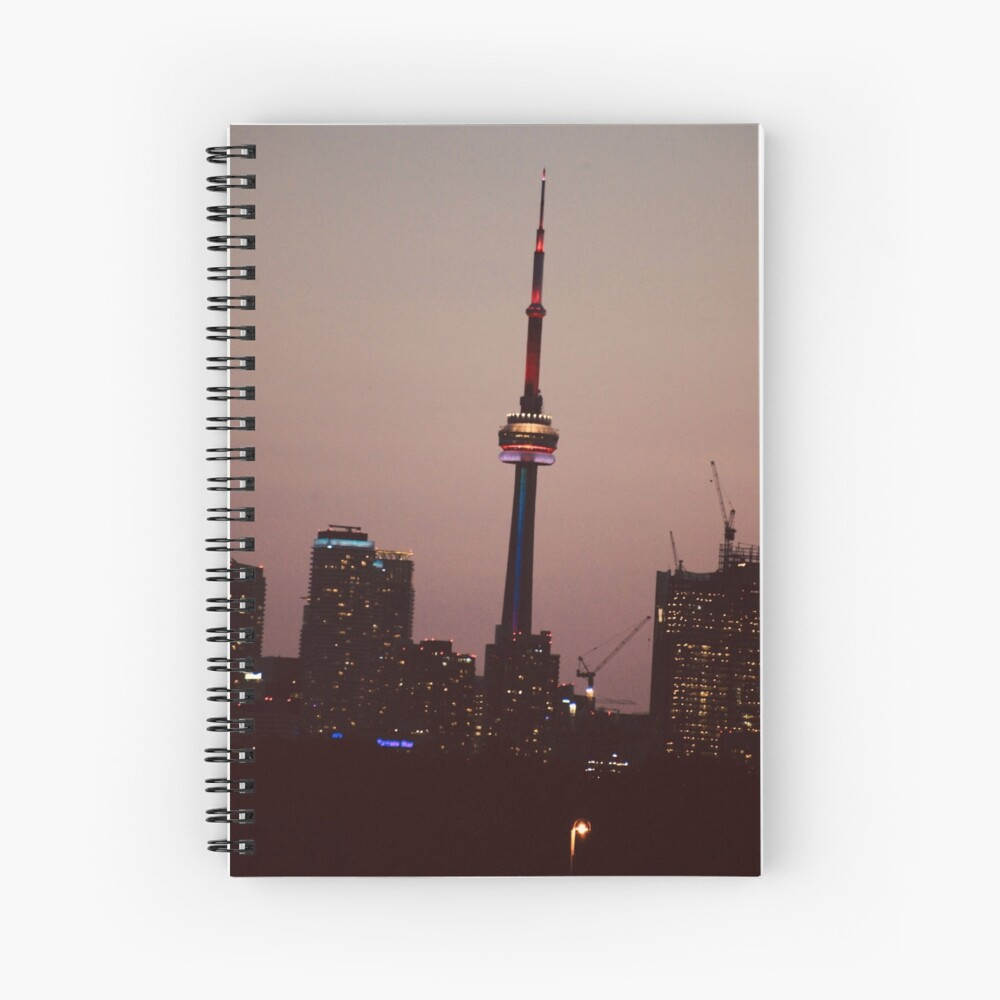 Toronto by Night By Yannis Lobaina  Spiral Notebook