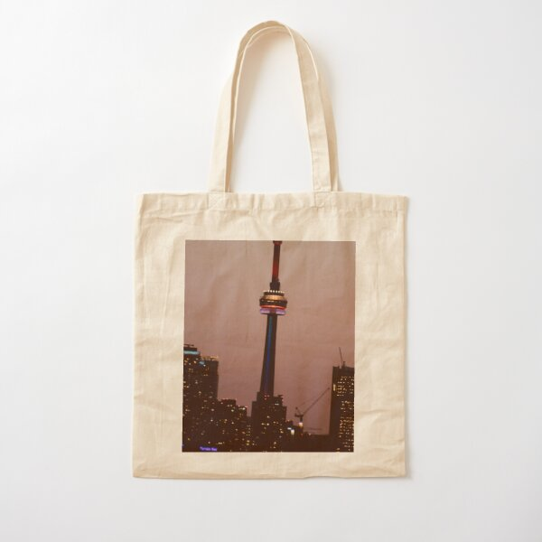Toronto by Night By Yannis Lobaina  Cotton Tote Bag