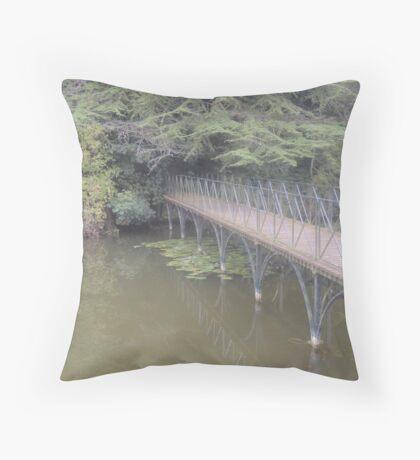 Peaceful Bridge (Blenheim Grounds) Throw Pillow